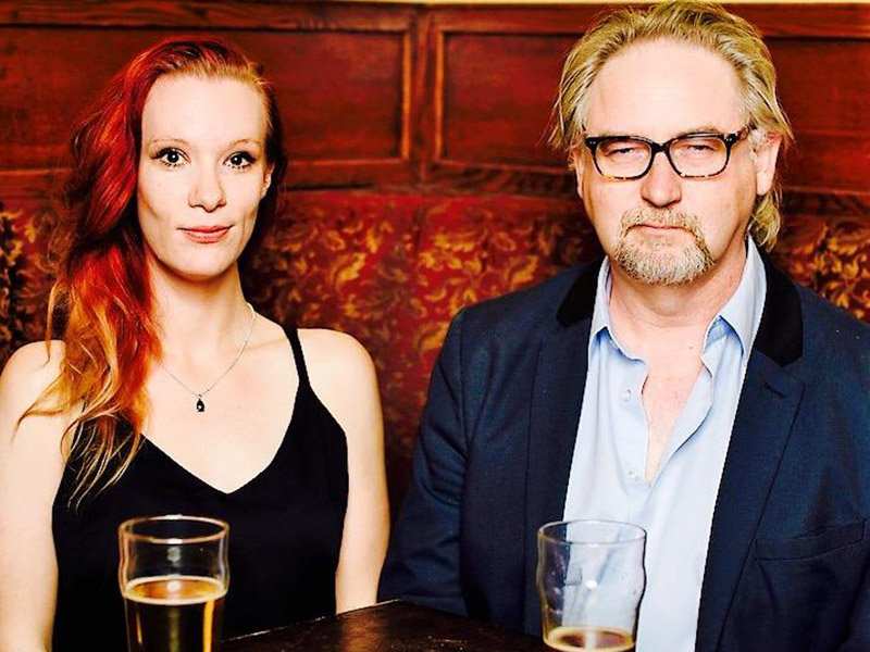Louise Casemore with playwright Vern Thiessen