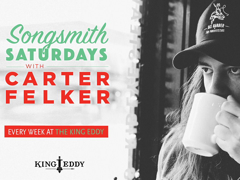 A graphic for Songsmith Saturdays with Carter Felker