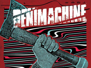A poster for Denimachine with Flashback and Nosis at The Palomino