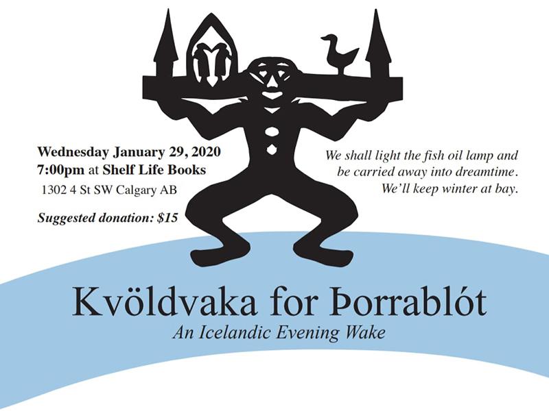 A poster for Kvöldvaka for Þorrablót