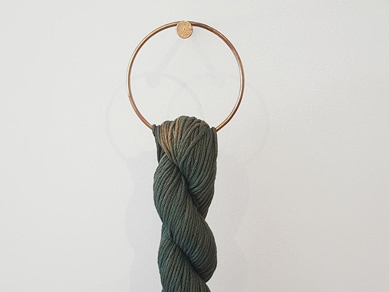 A piece by Jolie Bird on display