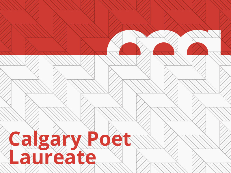 A graphic that says Calgary Poet Laureate