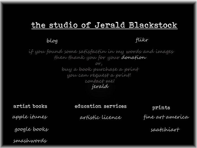 The studio of Jerald Blackstock