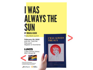 A graphic promoting the launch of I Was Always the Sun