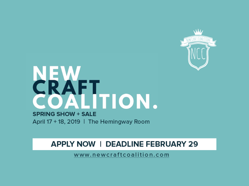 Apply now to the New Craft Coalition Spring Show Sale