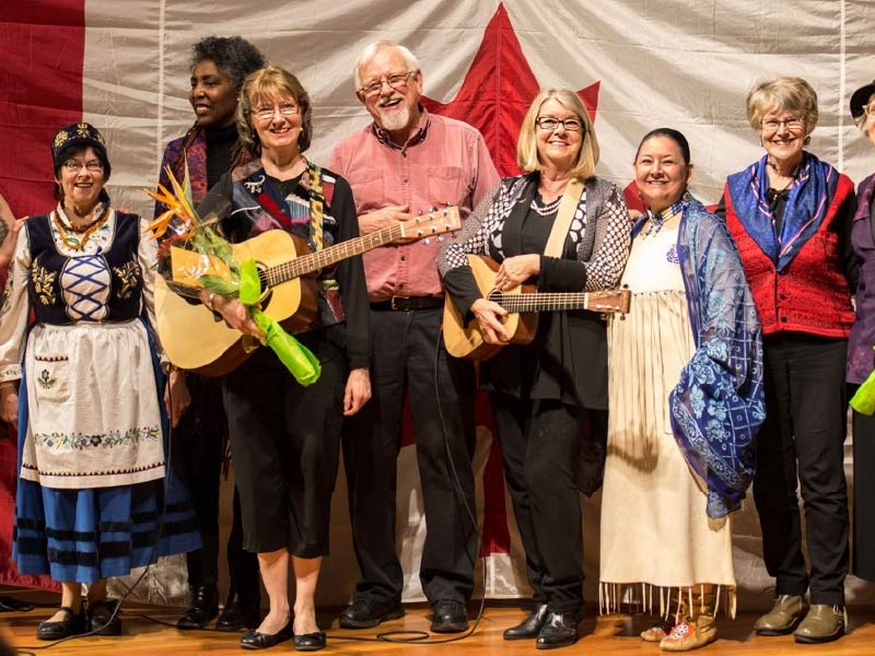 A photo of Storytelling Alberta ensemble