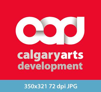 Calgary Arts Development logo at 350x321 at 72DPI