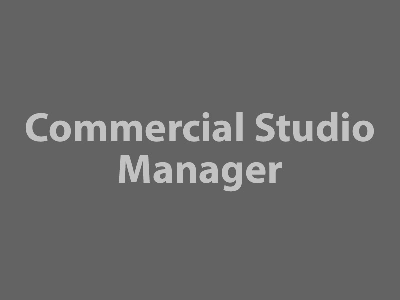 Commercial Studio Manager graphic