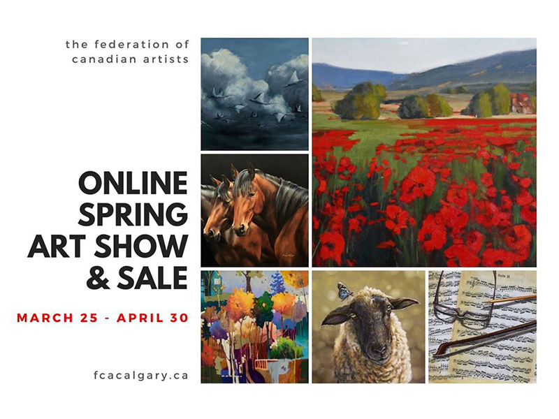 A graphic for the Federation of Canadian Artists' spring art show and sale