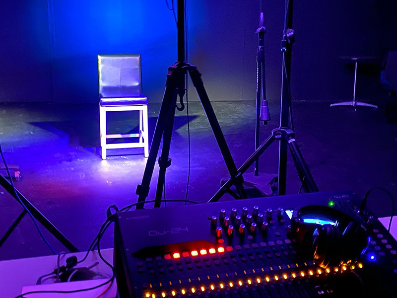 A stage set up to stream