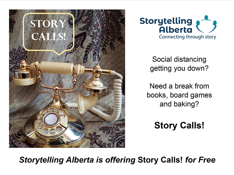A graphic for Storytelling Alberta's Story Calls