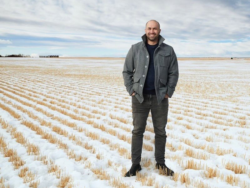 A photo of Kevin Boyle in a snowy field