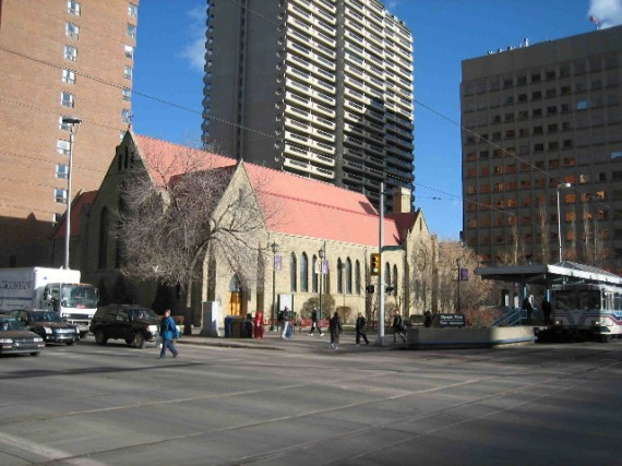 An old image of downtown calgary