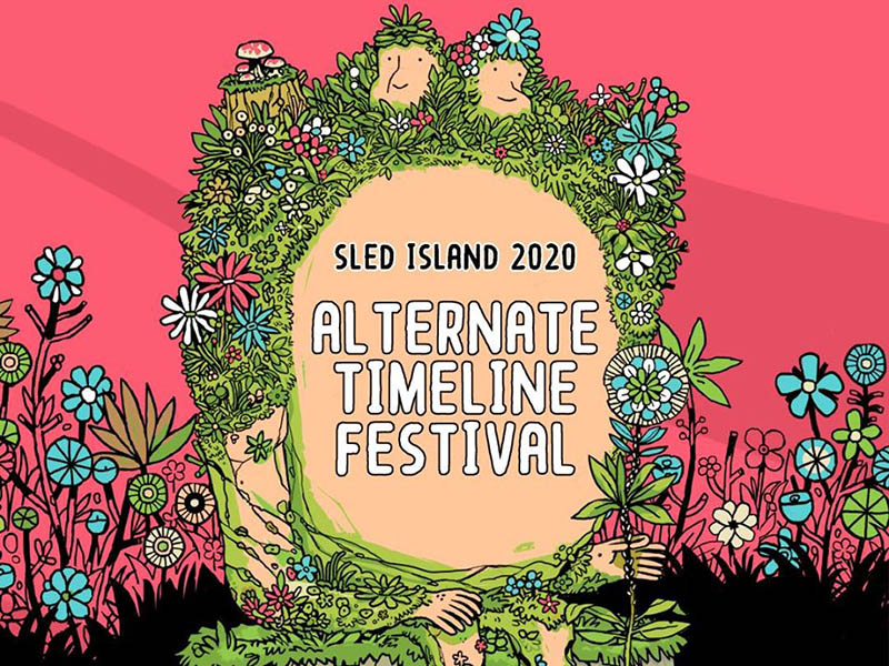 A graphic for the Sled Island Alternate Timeline Festival