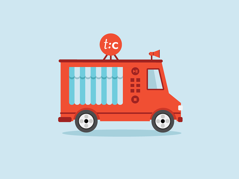 An illustration of a food truck