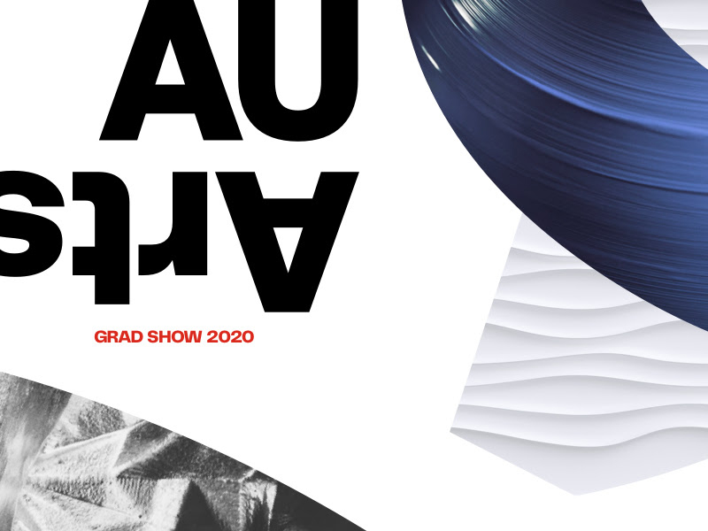 A graphic for the Virtual Grad Show Launch at the Alberta University of the Arts