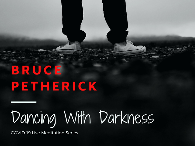 A graphic for Bruce Petherick's Dancing with Darkness