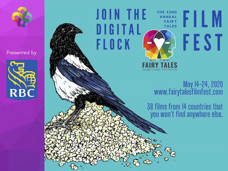 A graphic promoting the Fairy Tales Queer Film Festival