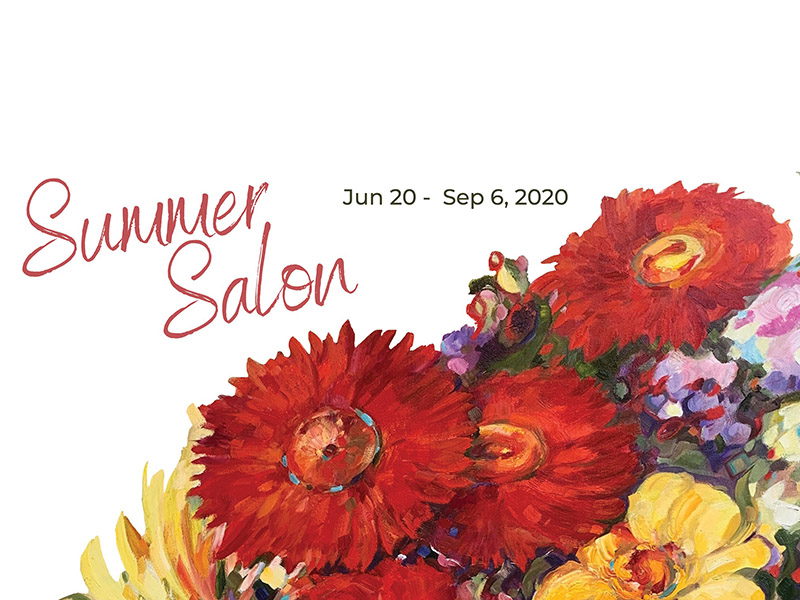 A graphic for the Summer Salon at the Leighton Art Centre