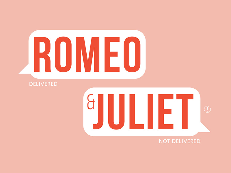 A graphic for Romeo & Juliet