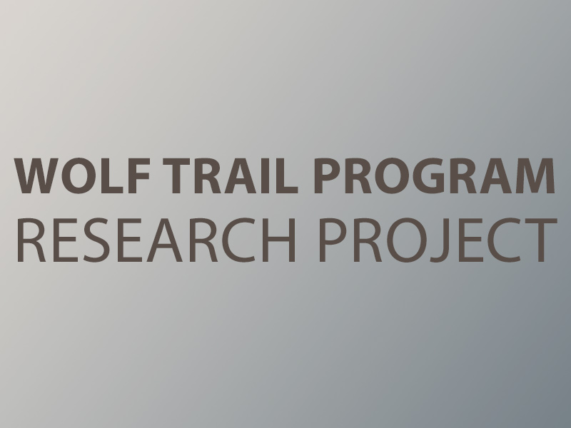 Wolf Trail Program Research Project graphic