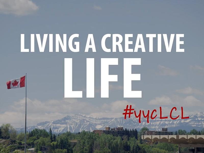 A screen cap from the Living a Creative Life web series, #yycLCL