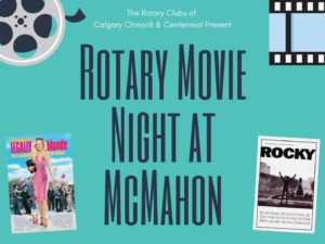 an image promoting movie night at McMahon