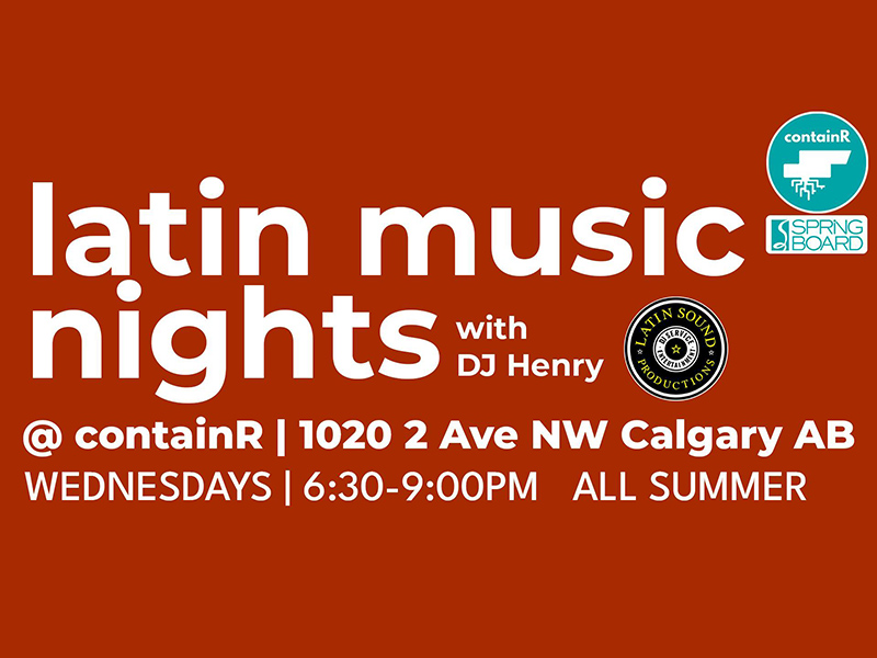 A graphic for Springboard Performance's Latin Music Nights