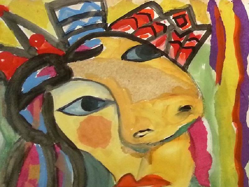 A photo of picasso style artwork by Asta Dale