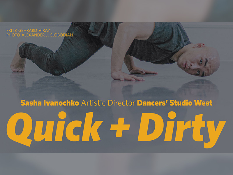 A graphic for the Quick + Dirty Film Festival