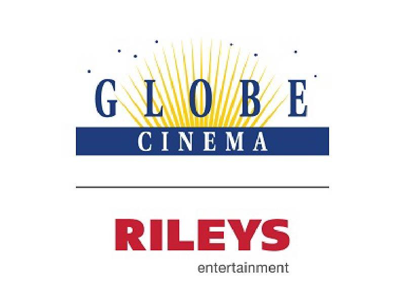 Globe Cinema Rileys Entertainment logo