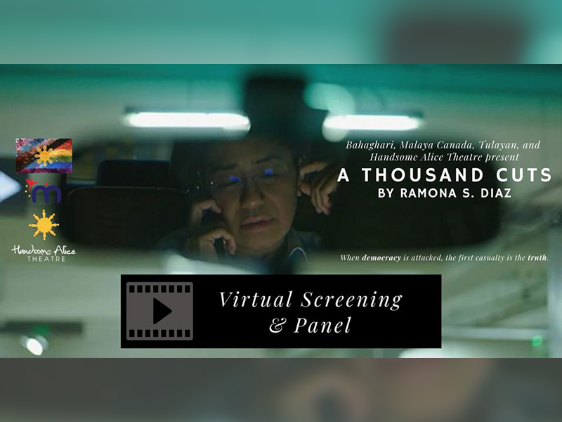 A graphic for the virtual screening of A Thousand Cuts