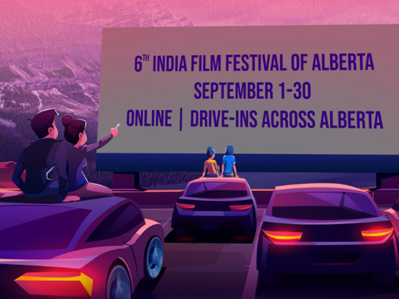 A graphic for the India Film Festival of Alberta