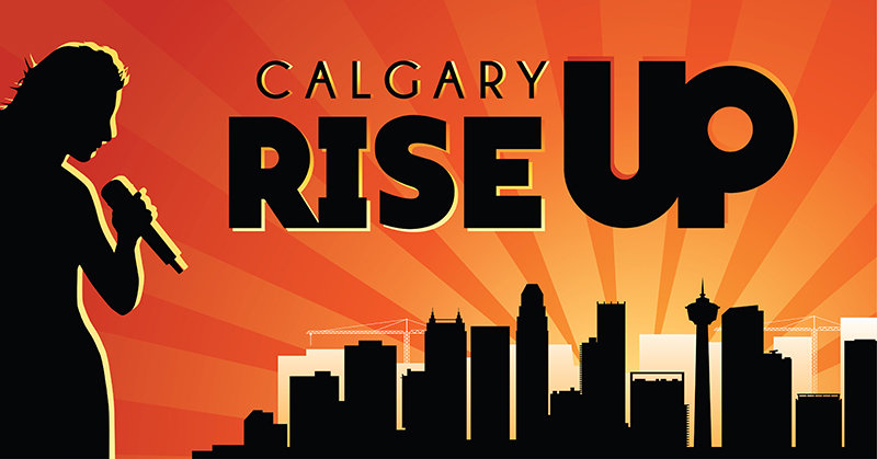 Calgary RISE UP graphic