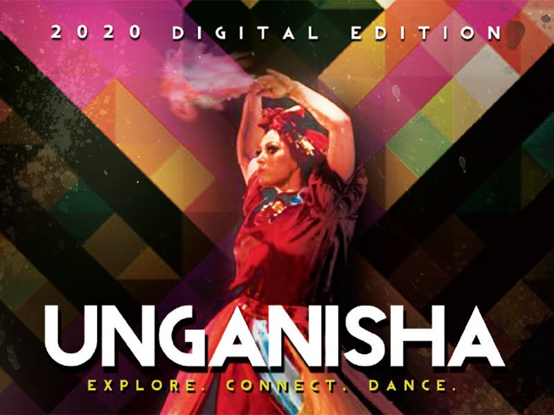 A poster for UNGANISHA: Explore. Connect. Dance. online