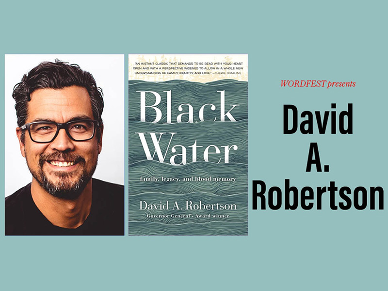 A graphic for Wordfest presents David A. Robertson