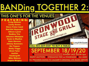 A graphic for BANDing Together 2: This one's for the venues