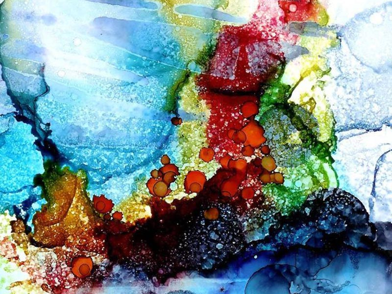 A sample of alcohol inks