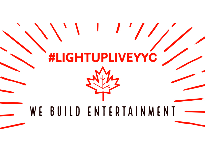 #lightupliveyyc We build entertainment