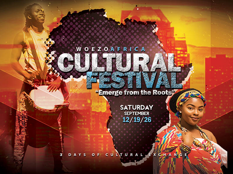 A poster for the Woezo Africa Cultural Festival