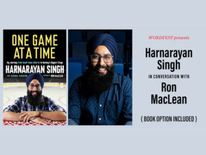 A graphic for Wordfest Presents Harnarayan Singh
