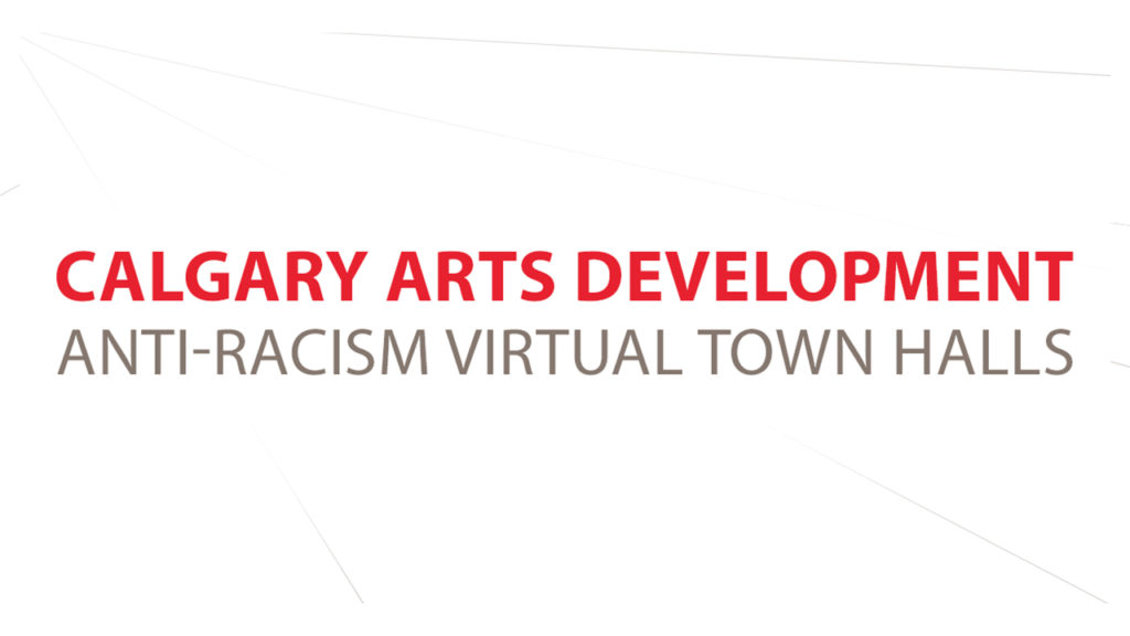 YouTube sized Anti-Raccism Town Hall graphic
