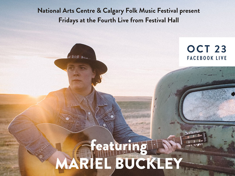 A graphic for Mariel Buckley at Fridays at the Fourth Live From Festival Hall