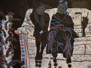 Detail of Omar Ba's Les Autres