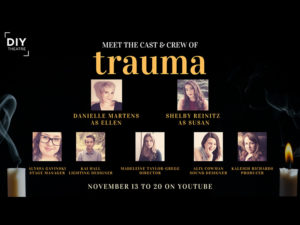 A graphic for DIY Theatre's production of Trauma