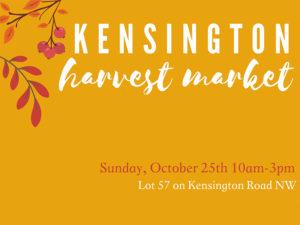 A graphic for the Kensington Harvest Market