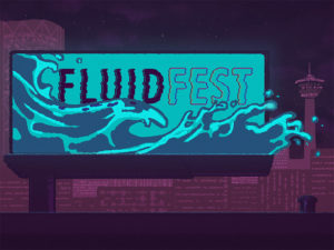 A graphic for 2020's Fluid Fest