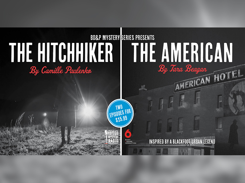A poster for The Hitchhiker and The American