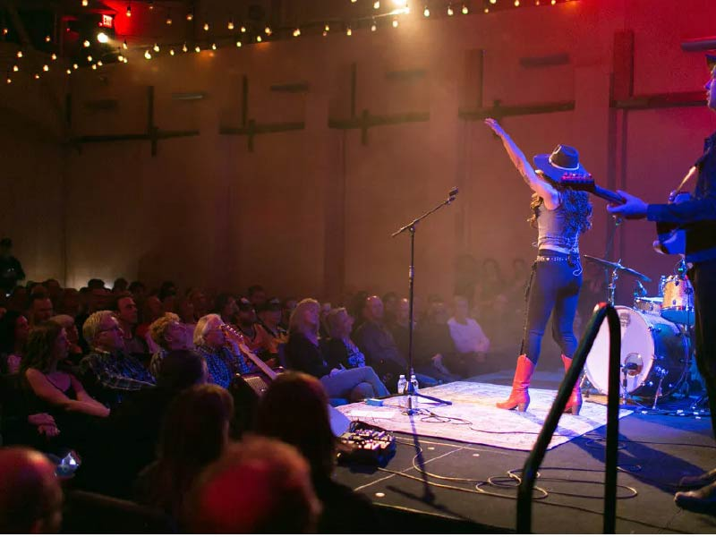 Image of a concert taking place at Festival Hall
