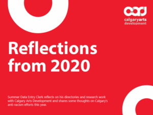 A graphic for the Reflections from 2020 fieldnote